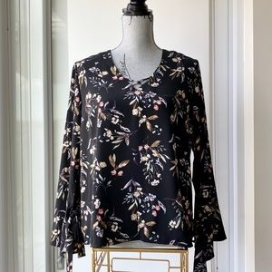 Dex Floral Blouse with Bell Sleeves